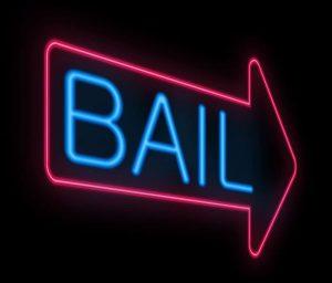 Neon BAIL sign - burglary bail bonds houston