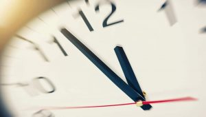 Bail bond process takes time - image of clock